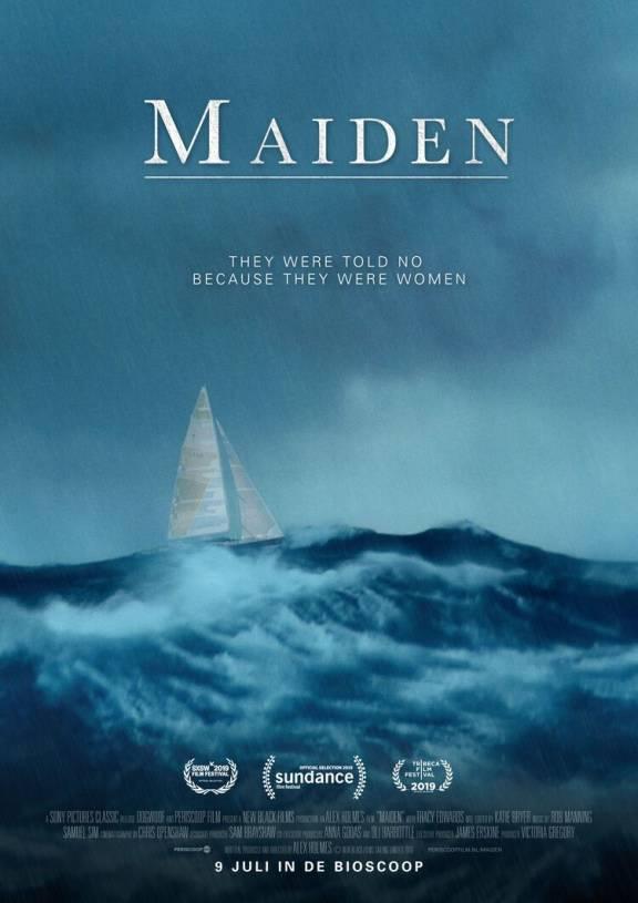 filmposter Maiden zee met zeilboot